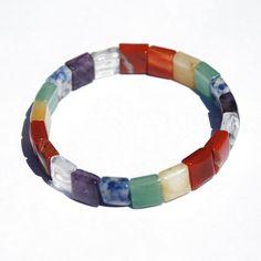 Bracelet chakra perles carrées