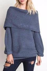 Foldover Ribbed Sweater