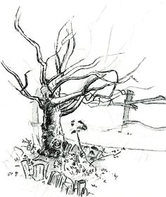 A personal favorite from my Etsy shop https://www.etsy.com/listing/230612714/ready-to-hang-ooak-scene-sketch-ogden