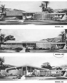 Uncle Jack's Very Vintage Vegas – Mid Century Modern Homes, Historic Las Vegas Neighborhoods, Las Vegas History and Urban Living by Jack LeVine – Plan 8 – The Last Of The William Krisel Designed Models Of Paradise Palms Vintage House Plans, Modern House Plans, Modern House Design, Vintage Architecture, Roof Architecture, Architecture Details, Mid Century House, Mid Century Style, Maison Eichler
