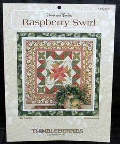 Raspberry Swirl quilt block pattern, Jensen, Lynette