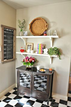 kitchen open shelf