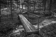 Bridge / Forest by ChristianThür Photography on Creative Market Outdoor Furniture, Outdoor Decor, Bridge, Graphic Design, Park, Creative, Photography, Home Decor, White Photography