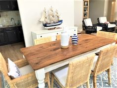 A Classic Style Farmhouse Table brought to life using 100+ year old reclaimed barn wood to recreate the look of an antique table that has been passed down for many generations. This classic table will make the perfect addition to your home to dine and celebrate holidays and special occasions with family and friends.