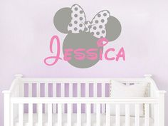 Name Wall Decal Minnie Mouse Bow Head Ears Vinyl Decals Sticker Custom Decals Personalized Baby Girl Name Decor Nursery Baby Room Decor Welcome, You are Incredible! ღ My wall decals are more than made with love, they are made with passion!  Please add NAME and detailed COLOR information to the Notes box on the checkout page Choose color: Minnie Mouse Head Choose color: Name  Approximate Item Sizes:  17 Tall (inches) (Wide depends on name) 22 Tall (inches) (Wide depends on name) 28 Tall…