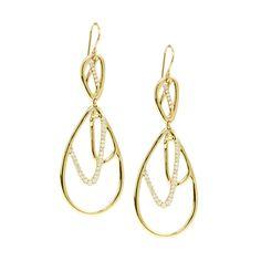 Ippolita | Drizzle Diamond Double Tear Drop earring - Earrings - 18K Gold