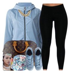 """""""unknown"""" by nasiaswaggedout ❤ liked on Polyvore featuring Moncler, Louis Vuitton, Tom Ford, Forever 21 and adidas"""
