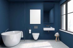 Suggestive of the sky at dusk, the reassuring qualities of the thought-provoking PANTONE Classic Blue highlight our desire for a dependable and stable foundation on which to build as we cross the threshold into a new era. Explore a premium selection. Azul Pantone, Pantone Blue, Pantone 2020, Pantone Color, Classic Blue Bathrooms, Blue Bathtub, Blue Highlights, Reclaimed Wood Projects, House On A Hill