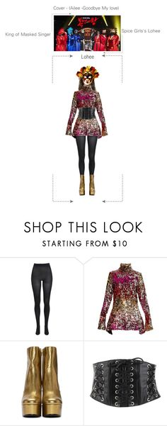 """""""SPICE GIRLS'S LOHEE - King of Masked Singer"""" by spicegirls-official ❤ liked on Polyvore featuring Bardot, Halpern, Yves Saint Laurent and Forever 21"""