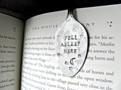Hand-stamped stainless steel spoon bookmark | 22 Perfect Gifts For The Book Nerd In Your Life