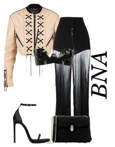 """BNA"" by deborahsauveur ❤ liked on Polyvore featuring Louis Vuitton, Versace, Atsuko Kudo, Yves Saint Laurent and Bulgari"