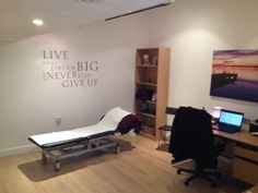 Comfortable treatment room at Physiotherapy 4 Life, Sale, Manchester