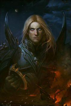 Arthas Menethil - The Lich King Fantasy Portraits, Character Portraits, Character Art, Character Design, Warcraft Art, World Of Warcraft, Dark Fantasy, Fantasy Art, Fantasy Heroes