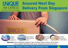 Receive your urgent shipment with quickest ever courier service from Singapore to India. Get in touch at 02067200000 or Email us at info@uniqueairexpress.com #CourierServices