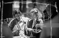 Al Pacino and Michelle Pfeiffer on the set of 'Frankie and Johnny'