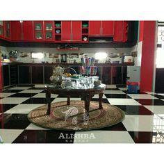 Kediaman customer (Kak Rora Toha di Palembang) Karpet bulat ukuran 150cm*150cm Tipe Diamond 2855A Hijau Liquor Cabinet, Carpet, Storage, Furniture, Home Decor, Purse Storage, Decoration Home, Room Decor, House Bar