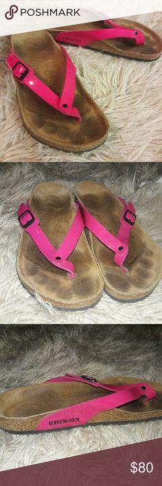 Birkenstock sandals! Pink Birkenstock sandals! Worn once not my style! Very comfortable!! Birkenstock Shoes Sandals