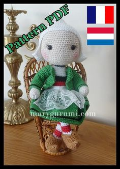 Pattern pattern tutorial of amigurumi doll snipe by Marygurumi