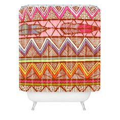 Lisa Argyropoulos Two Feathers Shower Curtain | DENY Designs Home Accessories.