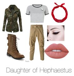"""Daughter of Hephaestus outfit"" by cheetahloverlol on Polyvore featuring WithChic, LE3NO, Dsquared2, Refresh, New Look and Lime Crime"