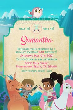 Nella The Princess Knight Mermaid Baby Showers, Baby Mermaid, 5th Birthday, Birthday Parties, Birthday Ideas, Nella The Princess Knight, Tribal Wolf, Knight Party, Digital Invitations