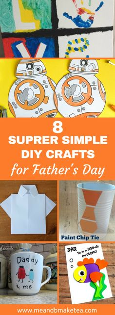 Father's day craft ideas that are easy to make with kids - you'll definitely want to try these! Or save them for next year! From mugs, to hand made cards, there are lots of DIY gift ideas that are easy and no-faff! Easy Diy Crafts, Crafts To Make, Crafts For Kids, Children Crafts, Homemade Gifts, Diy Gifts, Fathersday Crafts, Father's Day Activities, Children Activities