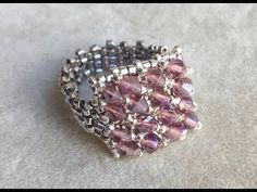 I'm sorry, because this is a very old video. I didn't know how to shoot the video. After this video, I recorded a fe. Diy Beaded Rings, Diy Rings, Beaded Necklace, Tutorial Anillo, Ring Tutorial, Seed Bead Jewelry, Wire Jewelry, Handmade Jewelry, Right Angle Weave