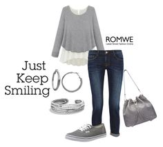 """""""Just keep smiling"""" by pollypocket-erm ❤ liked on Polyvore featuring Frame Denim, Vans, Kim Rogers, David Yurman, women's clothing, women, female, woman, misses and juniors"""