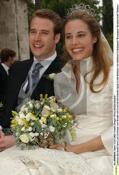 The Wrede Tiara of the Princes von Wrede ~ Hereditary Prince Carl Christian von Wrede & Countess Katalin Bethlen de Bethlen 2003