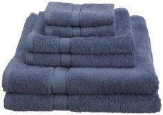 Towel  Set Color Wedgewood. Pinzon Egyptian Cotton 725-Gram 6-Piece. SHIP FREE.   http://cgi.ebay.com/ws/eBayISAPI.dll?ViewItem&item=390788005185