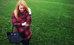 Red plaid poncho cardigan and black coach tote. Coach Tote, Red Plaid, Fall 2015, Bucket Bag, Autumn Fashion, Bags, Handbags, Fall Fashion, Pouch Bag