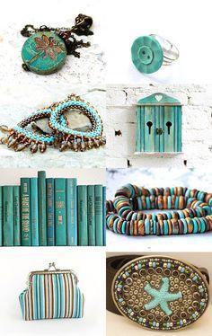 #etsy #treasury #turquoise #vintage