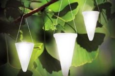 I would love a patio filled with these hanging solar garden lights.  Create a magical atmosphere without having anything to plug in!