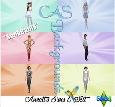 """Annett's Sims 4 Welt: CAS Backgrounds """"Sunbeams"""""""