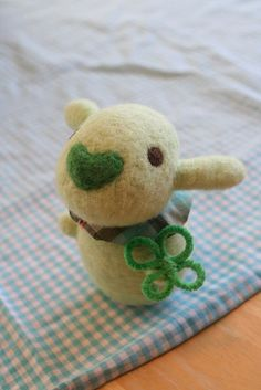 cutest felted bear? with great nose