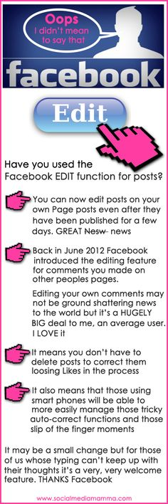 The new #Facebook feature may be a small thing to some but to me it is a biggy. #LessStressMoreSuccess #Infographic www.socialmediamamma.com