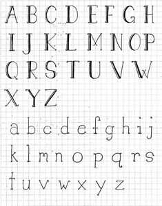 Hand-Drawn Typography: Create Your Own Font - Skillshare hand lettering drawing Typography Drawing, Doodle Lettering, Creative Lettering, Lettering Design, Hand Lettering Alphabet, Typography Letters, Calligraphy Letters, Typography Poster, Alphabet Letters Design