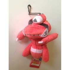 Pokemon 2013 Banpresto UFO Game Catcher Prize My Pokemon Collection Series Red Genesect Plush Keychain