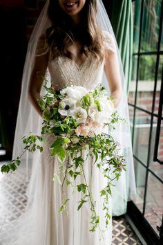 Garden bouquet: http://www.stylemepretty.com/new-york-weddings/new-york-city/2014/10/28/rustic-romance-in-new-york-city-at-bowery-hotel-wedding/ | Photography: Brookelyn -http://www.brookelynphotography.com/