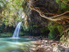Things to do in Maui with kids: Twin Falls on the Road to Hana Map Of Hawaii, Big Island Hawaii, Maui Hawaii, Hawaii Vacation Guide, Best Honeymoon Destinations, Road To Hana, Twin Falls, Romantic Honeymoon, Great Barrier Reef
