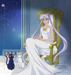 Художественные работы/by ASH/Anime art's photos Sailor Moon Luna, Sailor Moons, Sailor Moon Crystal, Sailor Moon Fan Art, Sailor Venus, Sailor Moon Background, Sailor Moon Wallpaper, Neo Queen Serenity, Princess Serenity