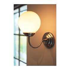 LILLHOLMEN Wall lamp - IKEA Will prob have to use crappy llights instead so they're ip rated for bathroom safety High Ceiling Lighting, Bar Lighting, Strip Lighting, Bathroom Sconces, Bathroom Lighting, Bathroom Wall, Bathroom Safety, Lights, Cement