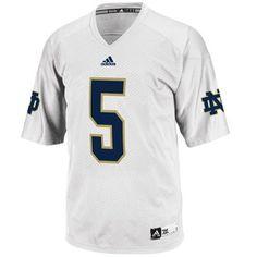 a2363340c adidas Notre Dame Fighting Irish  5 Replica Football Jersey - White -   fanatics Notre