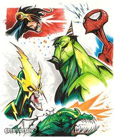 Marvel Grabbag by *CreatureBox on deviantART