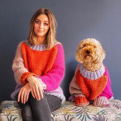 Super chunky knits, knit kits, yarn and knitting patterns from Devon, UK knit designer Lauren Aston Designs. Free Knitting Patterns For Women, Chunky Knitting Patterns, Knitting Kits, Knit Patterns, Knit Wrap Pattern, Knit Cardigan Pattern, Wooly Jumper, Crochet Jumper, Lana