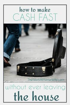 Great list of ideas on how to make cash fast & online