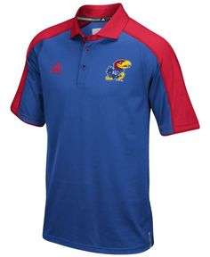 adidas Men\u0027s Kansas Jayhawks Sideline Polo Shirt