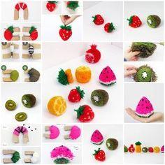 DIY Fruit Pom Poms https://www.facebook.com/icreativeideas
