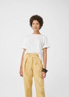 T-shirt algodão orgânico mango