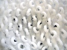 Structural knit sample with looped textures; 3D textiles for fashion; experimental knitting // Lee Da Young